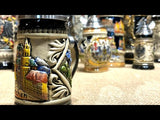 This video features a German beer stein featuring Munich and pewter lid. The German Village Shop SA