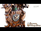 Video of 1 day mechanical traditional cuckoo clock with Coo Coo call with music