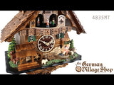 Video of 1 day mechanical chalet cuckoo clock with Coo Coo call with music and moving rocking horse