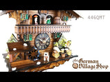 Video of battery operated cuckoo clock with Coo Coo call, moving beer drinkers and music