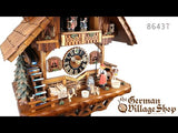 Video of 8643T Hones 8 day mechanical cuckoo clock with Coo Coo call with moving bell wringer and music