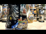 This video features a Traditional German beer stein with cobalt blue finish, page and pewter lid. Featured at The German Village Shop Hahndorf South Australia