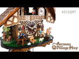 Cuckoo Clock Quartz - Musical chalet with dancer's and seesaw