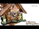 Video of 1 day mechanical chalet cuckoo clock with Coo Coo call and moving shepherd