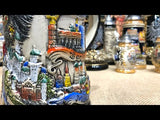 This video features a Traditional German beer stein featuring state crests, eagle and pewter lid. featured in The German Village Shop Hahndorf South Australia