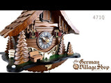 Cuckoo Clock Quartz - Chalet with Black Forest scene