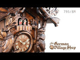 Video of 795/8MT Hones 8 day mechanical cuckoo clock with Coo Coo call with music