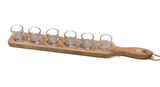 Schnapps board, schnapps shot glasses serving suggestion of schnapps, schnapps board for sale