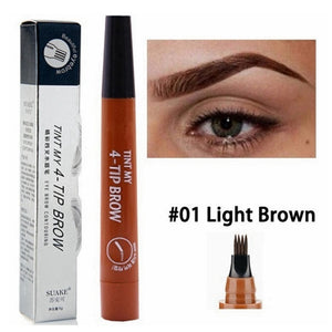 TINT MY 4-TIP BROW Liquid Eyebrow Pencil Waterproof Microblading Fork Tip Fine Sketch Eye Brow Tattoo Tint Pen Korean Cosmetics