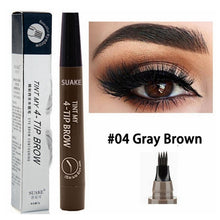 Load image into Gallery viewer, TINT MY 4-TIP BROW Liquid Eyebrow Pencil Waterproof Microblading Fork Tip Fine Sketch Eye Brow Tattoo Tint Pen Korean Cosmetics