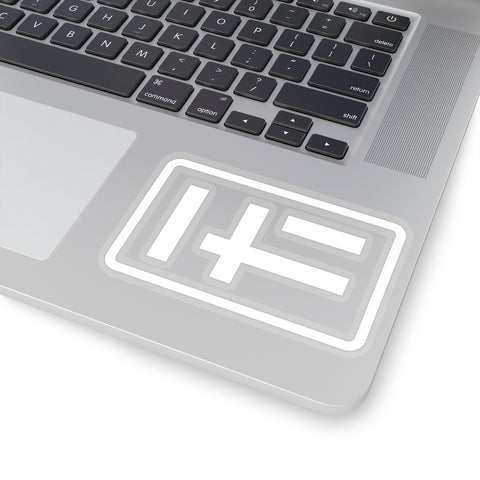 HF logo sticker [white]