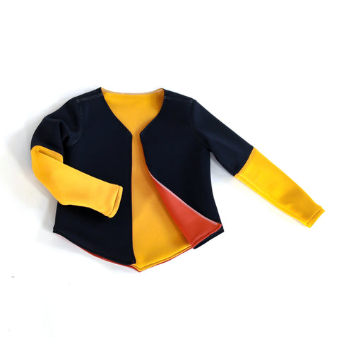 COLOR BLOCK neoprene jacket