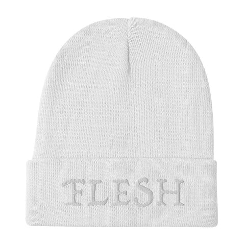 FLESH embroidered beanie