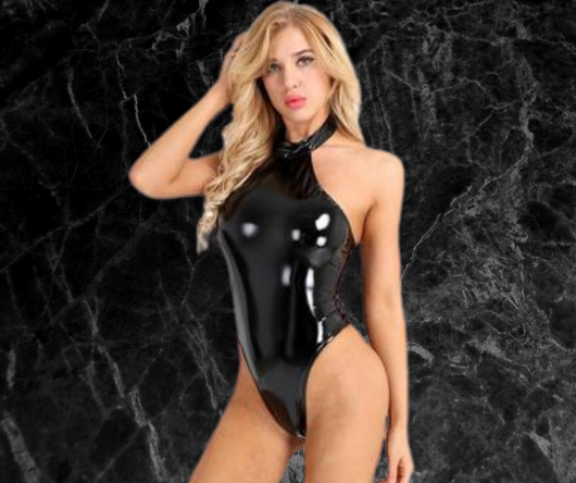 Women Wetlook Sexy Club Catsuit - no bra club
