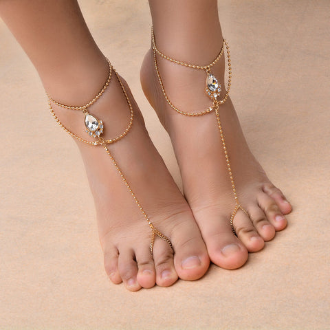 Sexy Silver Anklet Chain Ankle Bracelet Foot Jewelry - no bra club