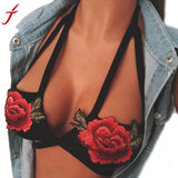 Bra Embroidered Floral Lingerie - no bra club