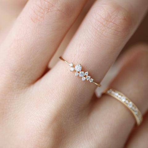 3 Diamonds Ring Zirconia Ring for Women - no bra club