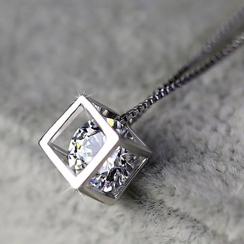 Diamond Necklace Pendant - no bra club