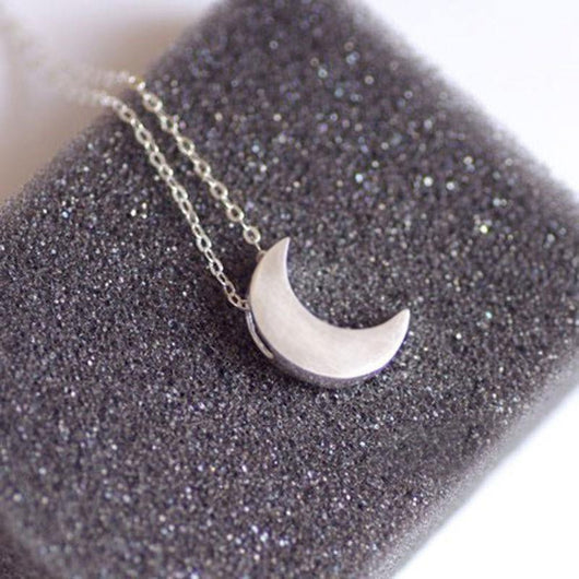 Gold Moon Pendant Necklace - no bra club