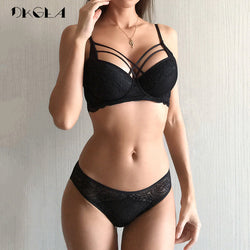 Classic Bandage Black Bra Set - NO BRA CLUB
