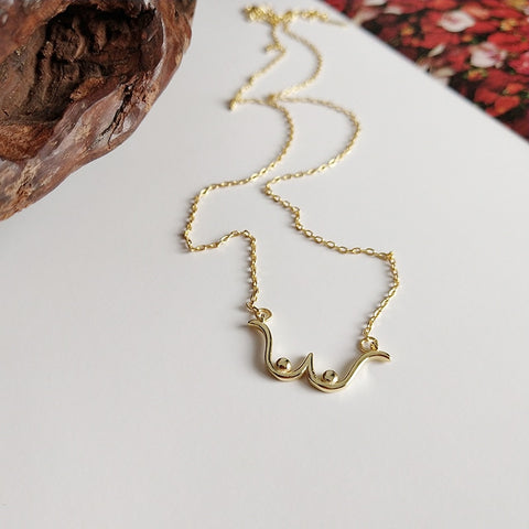 Moustache Pendant Necklaces - no bra club