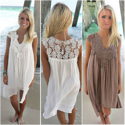 Loose Beach Lace Dress High - no bra club