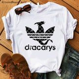 Women Dracarys T-Shirt Female Mother of Dragon - no bra club