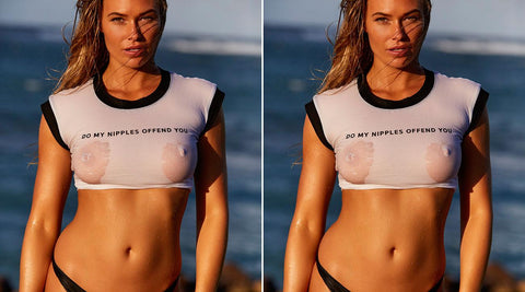 Do My Nipples Offend You? - no bra club