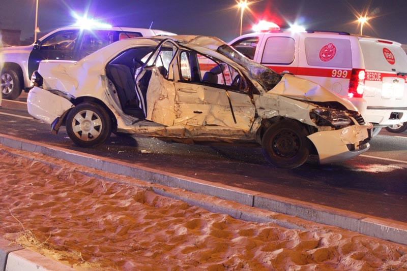 Motor vehicle accident claims in Dubai