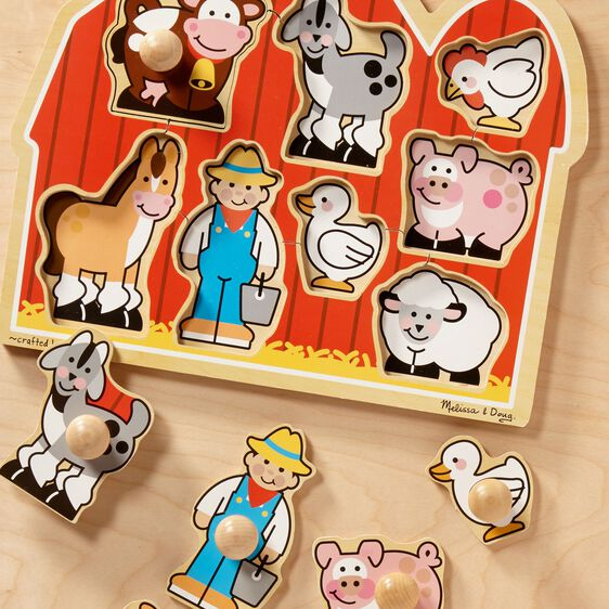 Farm Friends Jumbo Knob Puzzle