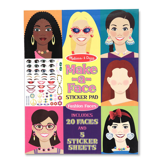 Fashion Faces Sticker Pad