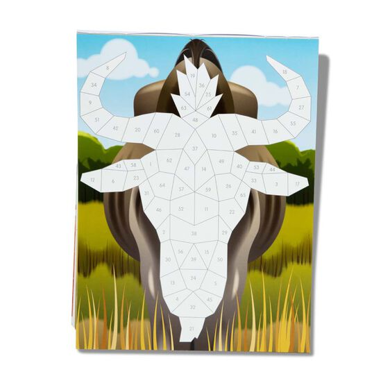 Mosaic Sticker Pad - Safari Animals