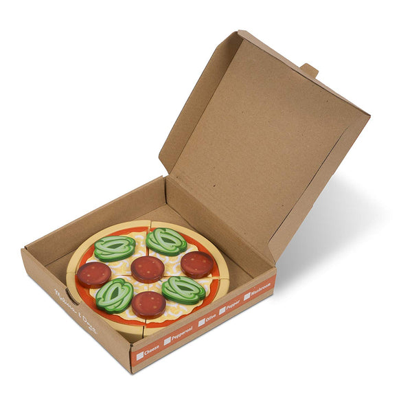 Melissa & Doug Top and Bake Wooden Pizza Counter Play Food Set