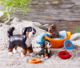 Haba Little Friends Brown & Tri-color Puppy