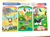 Wipe Off Learning Mats - Animals