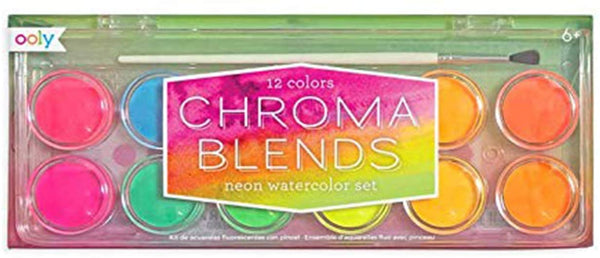 Ooly Chroma Blends Neon Watercolor Paint Set