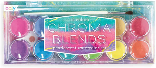 Ooly Chroma Blends Pearlescent Watercolor Paint Set