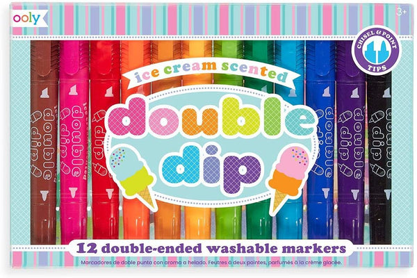 Ooly Double Dip Ice Cream Scented Washable Markers - Set of 12