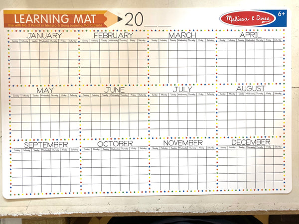 Wipe Off Learning Mats - Calendar