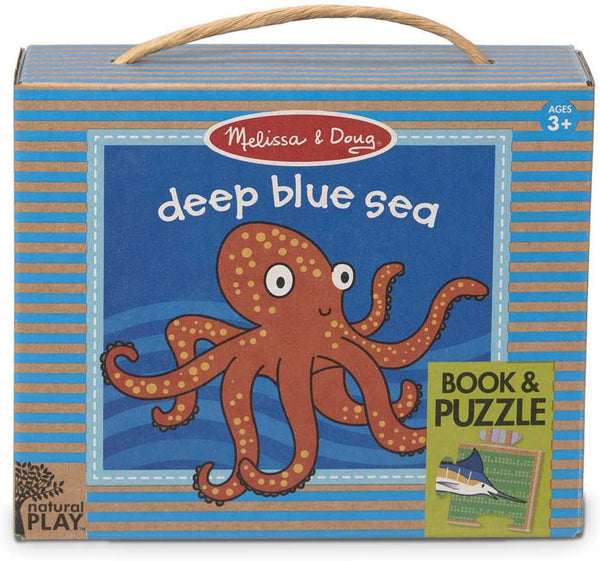 Melissa & Doug Deep Blue Sea Book & Puzzle
