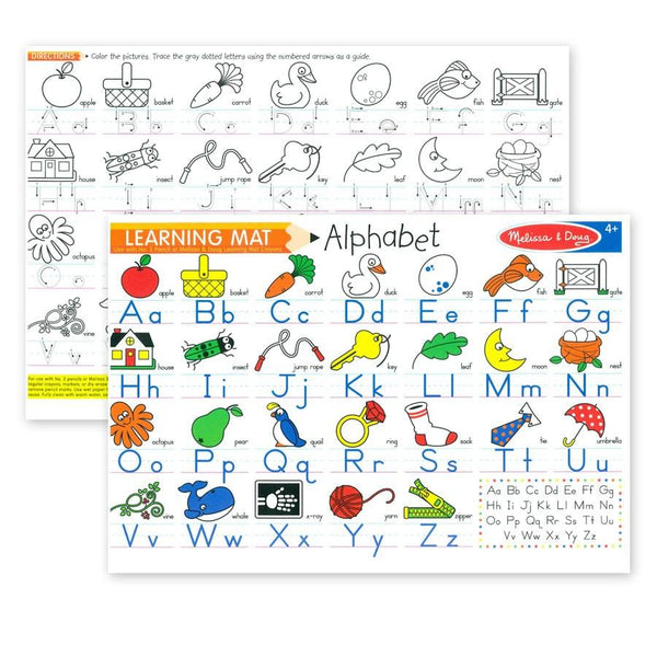 Wipe Off Learning Mats - Alphabet