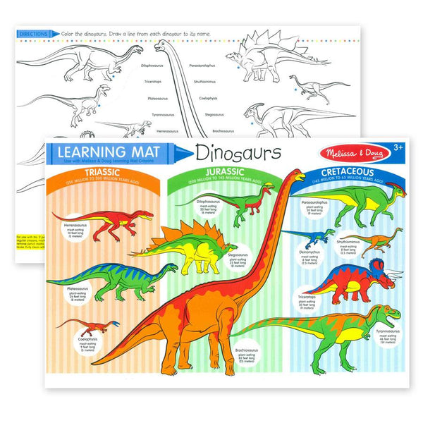 Wipe Off Learning Mats - Dinosaurs
