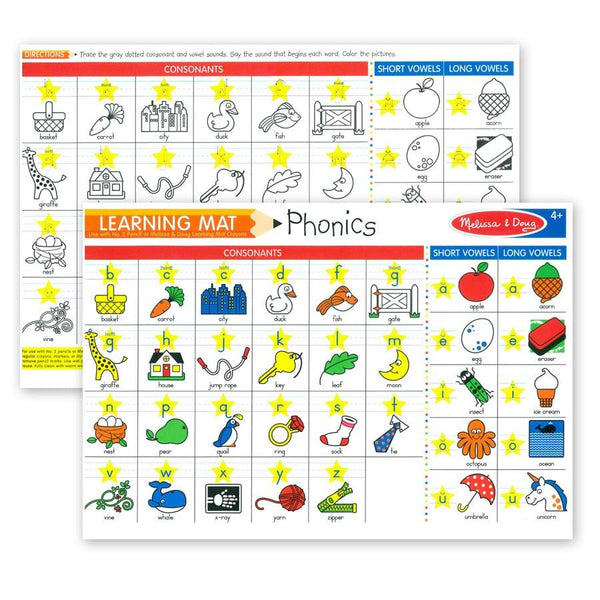 Wipe Off Learning Mats - Phonics
