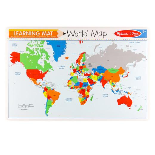 Wipe Off Learning Mats - World Map