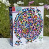 Triangle Round 500 Piece Puzzle