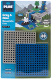 Plus-Plus Blue/Gray Baseplate Duo