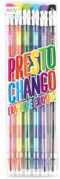 Ooly Presto Chango Erasable Crayons - Set of 6