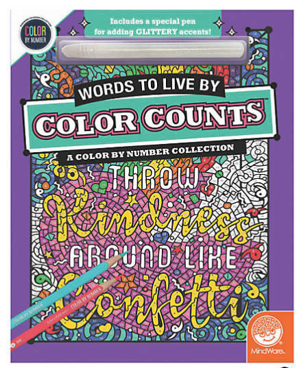 Color Counts: Words to Live By with Glitter