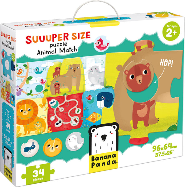 Suuuper Size Animal Match Puzzle