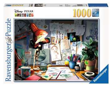 Disney The Artist's Desk 1000 Piece Puzzle